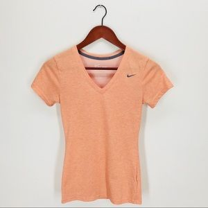 Nike Slim Fit Dri-Fit Cotton V-Neck Tee